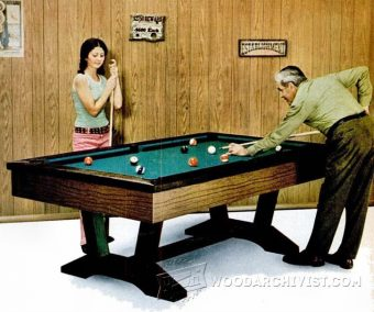 3760-Pool Table Plans