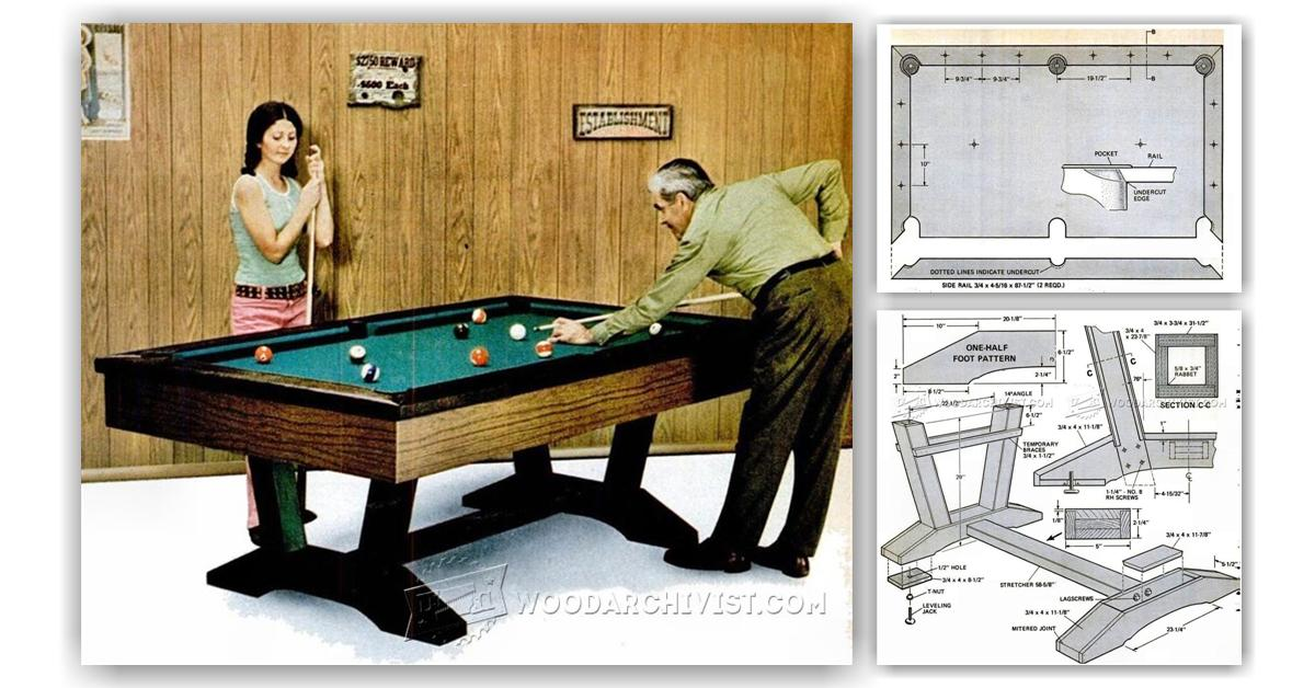 Luxury Free Pool Table Plans PDF  WoodWorking Projects Amp Plans