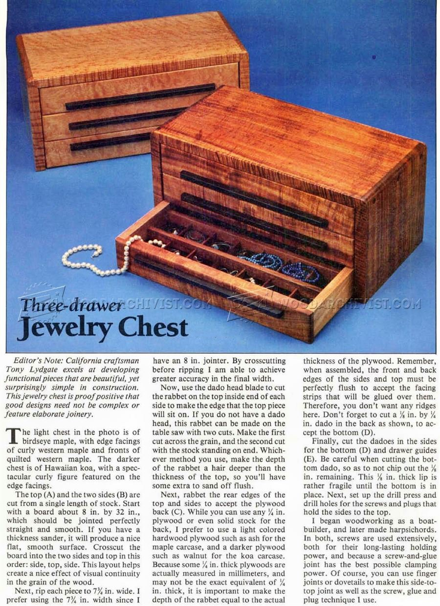 DIY Jewelry Chest