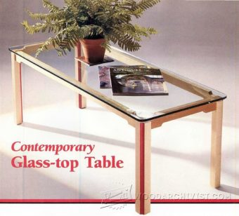 3771-Glass Topped Coffee Table Plans
