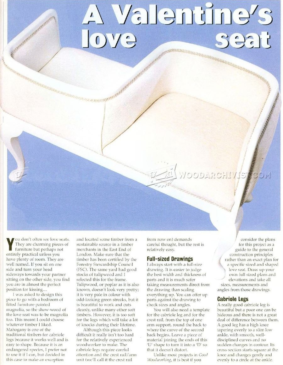 Valentine's Loveseat Plans