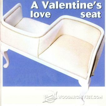 3775-Valentine's Loveseat Plans