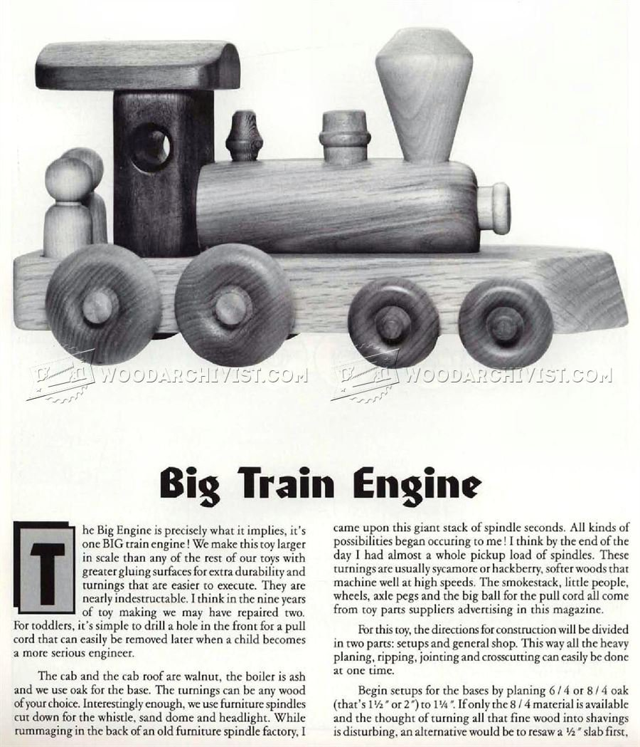 Wooden Toy Train Plans