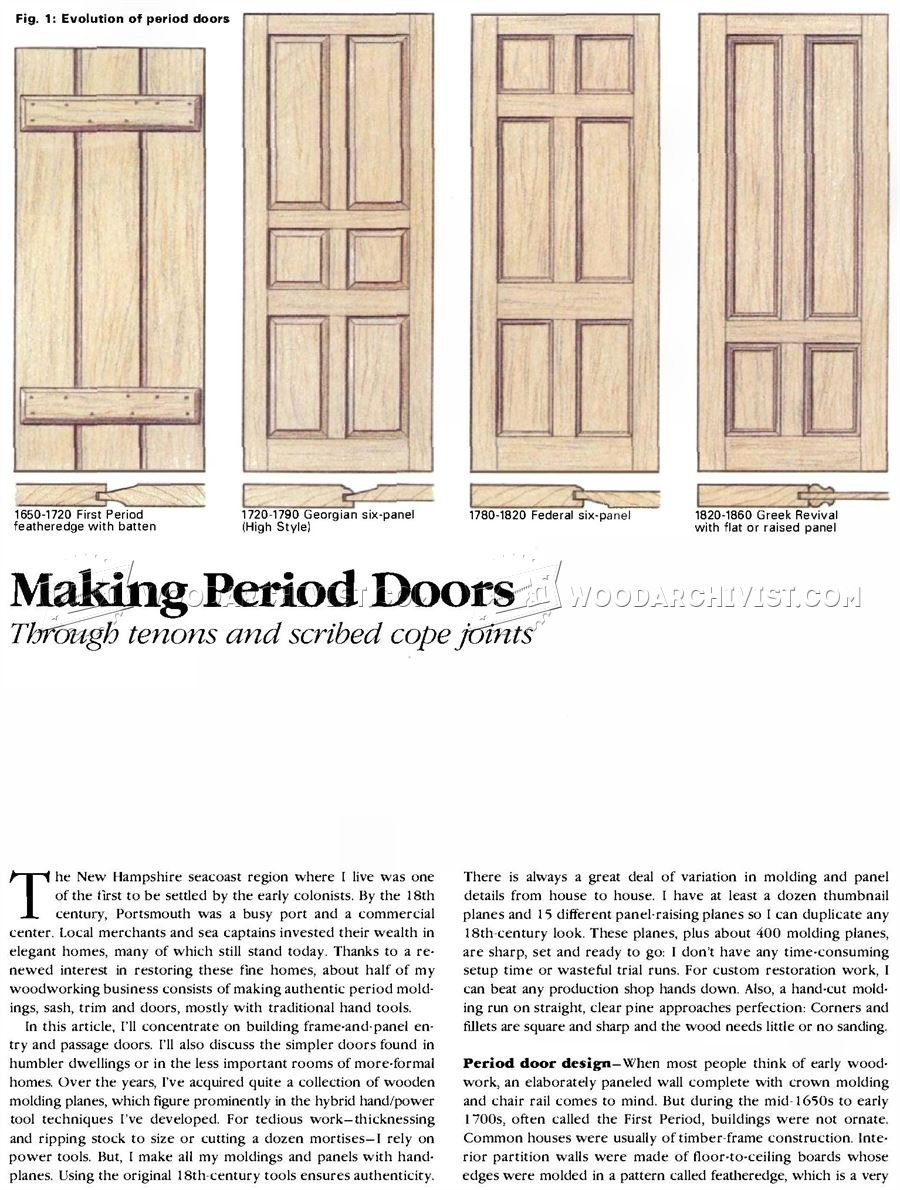 Making Period Doors