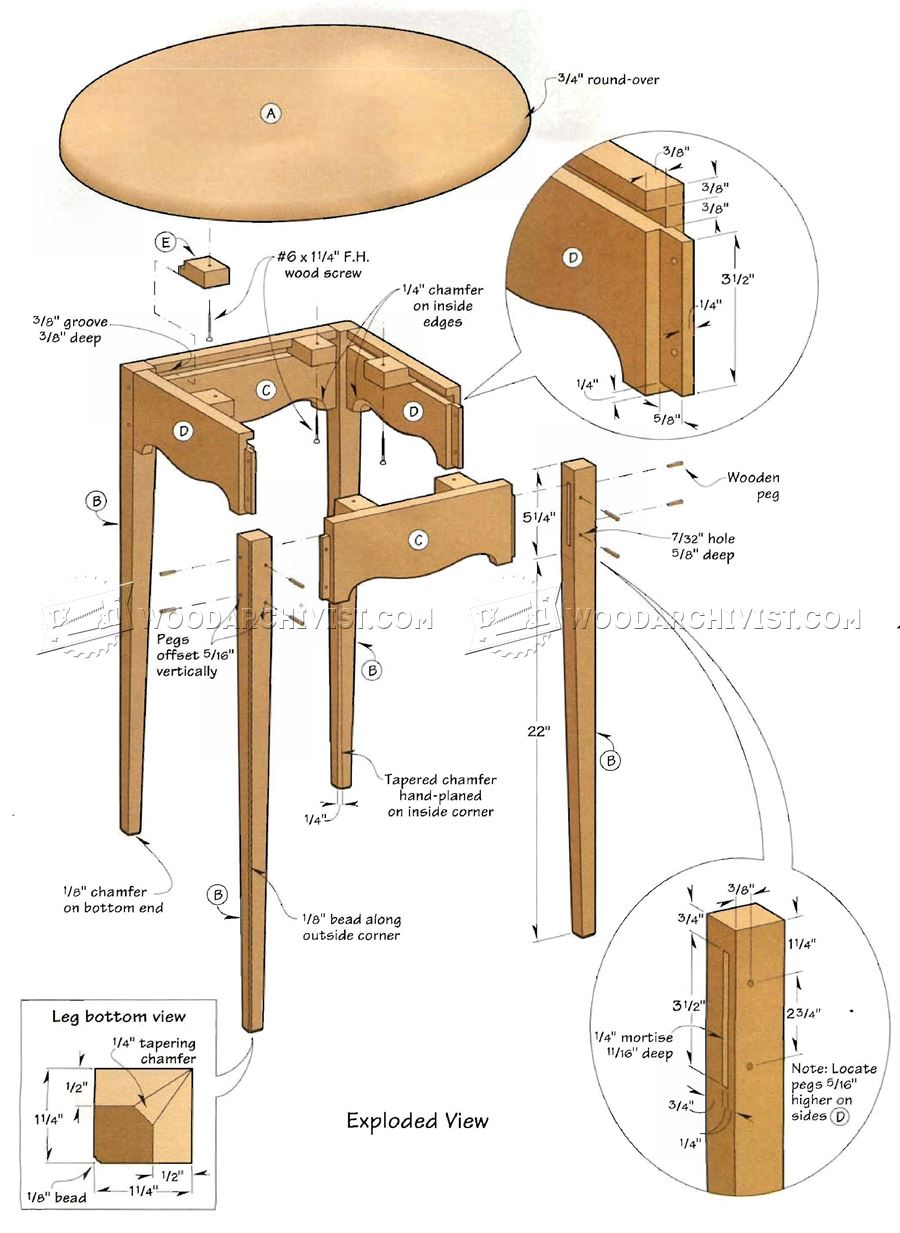 Small Tea Table Plans