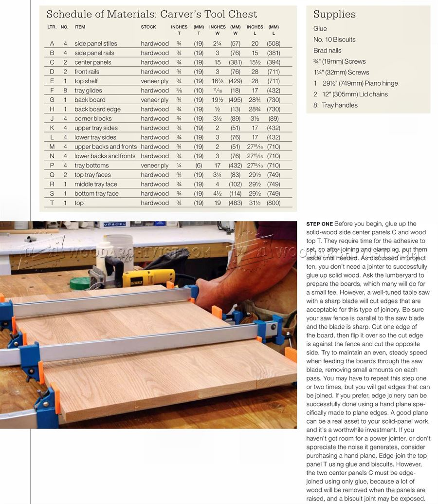 Carvers Tool Chest Plans