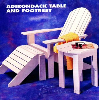 3799-Adirondack Table and Footrest Plans