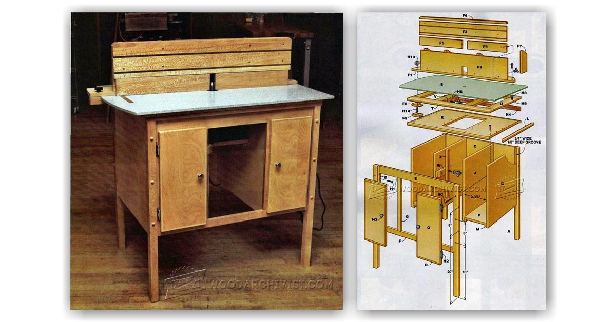 Ultimate Router Table Plans • WoodArchivist