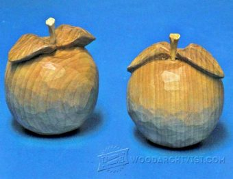 3804-Apple Wood Carving