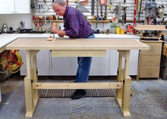 3809-Adjustable Height Worktable Plans
