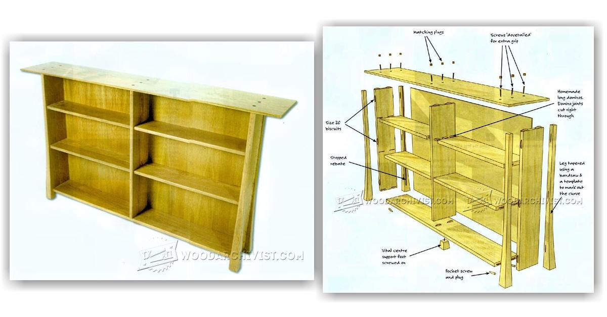 Simple Bookcase Plans Woodarchivist