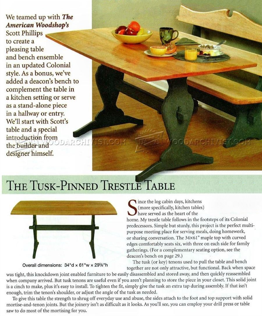 Trestle Table Plans ...