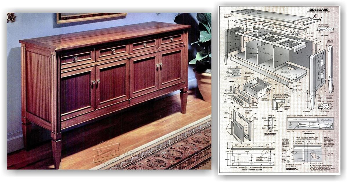 Sideboard plans woodarchivist