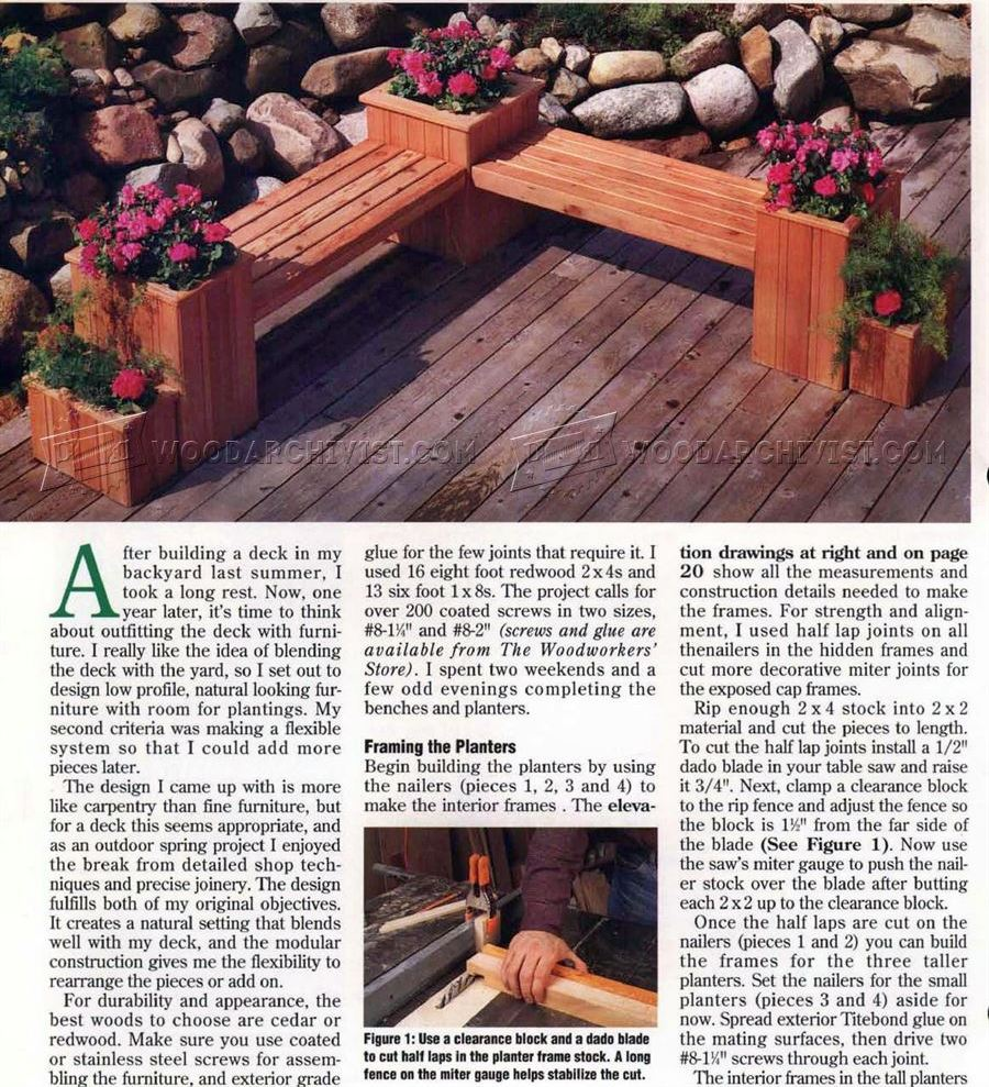 Swell Planter Bench Plans Woodarchivist Caraccident5 Cool Chair Designs And Ideas Caraccident5Info