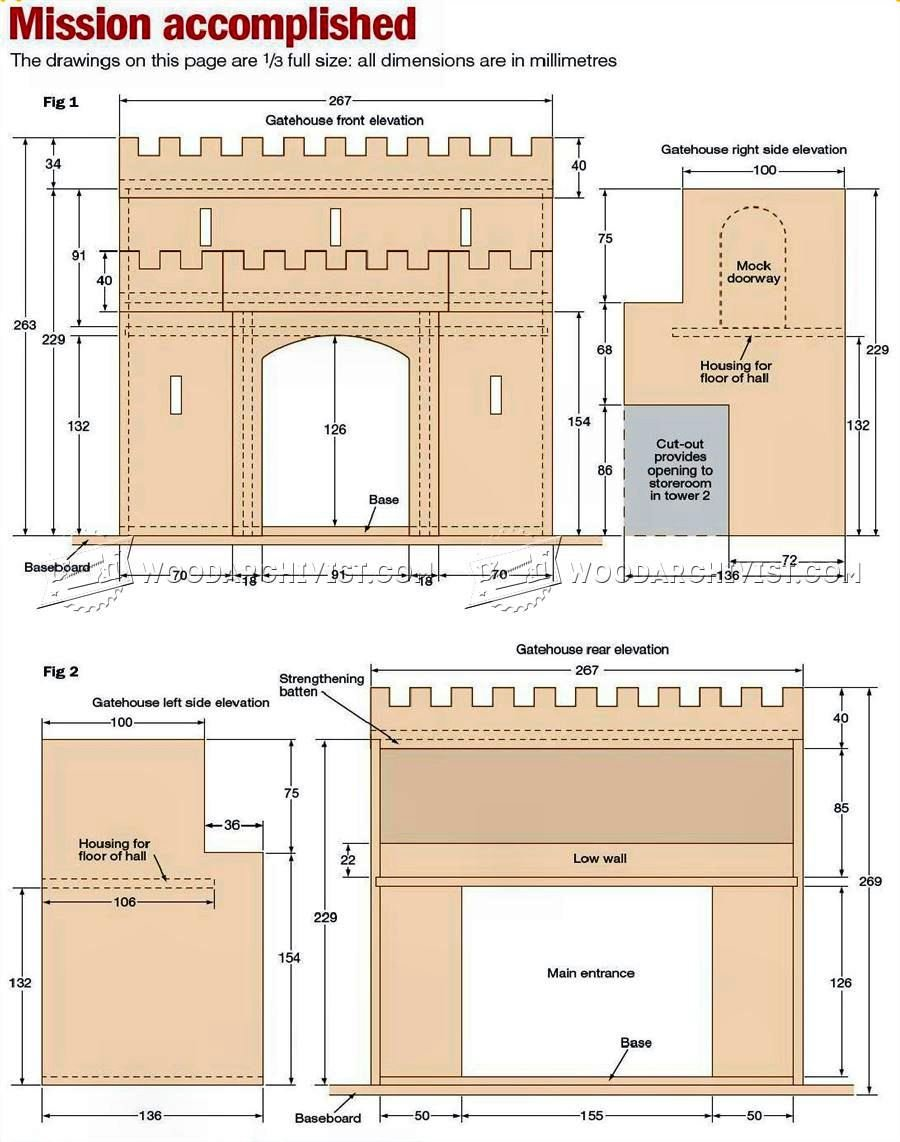 Wooden Castle Plans Woodarchivist