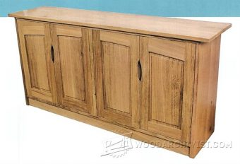 3821-Four Door Sideboard Plans
