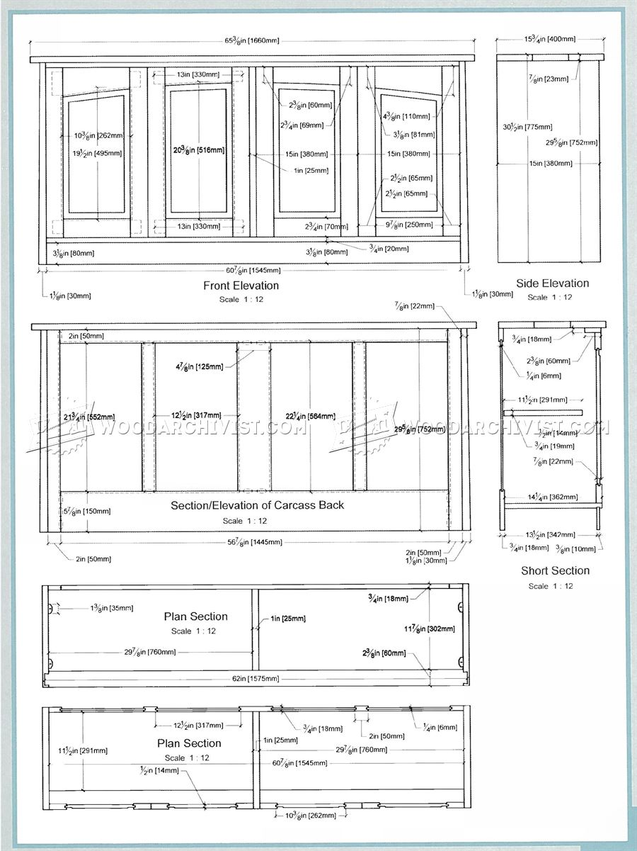 Four Door Sideboard Plans
