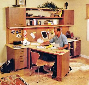 3824-Home Office Furniture Plans