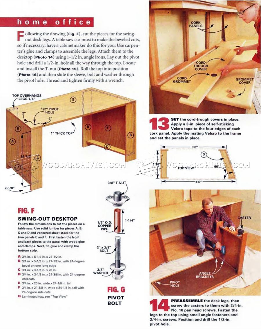Home Office Furniture Plans