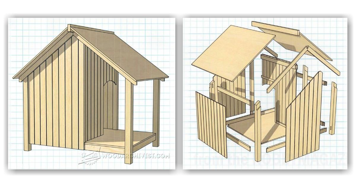 Dog Kennel Plans Woodarchivist