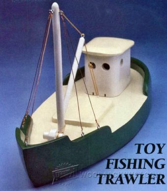 3828-Wooden Toy Fishing Trawler
