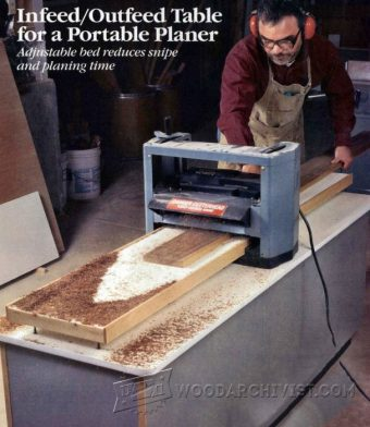 3836-Portable Planer InfeedOutfeed Table