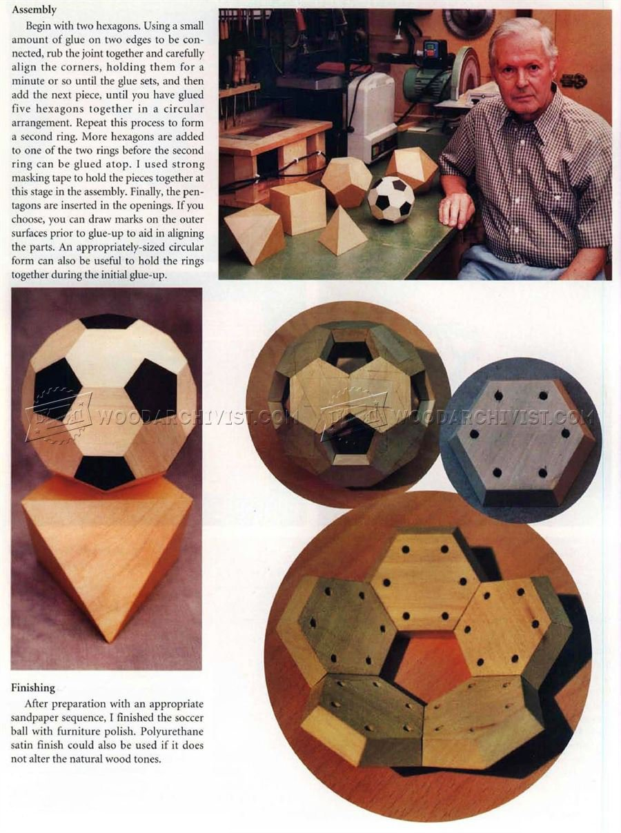 Making Wooden Soccer Ball
