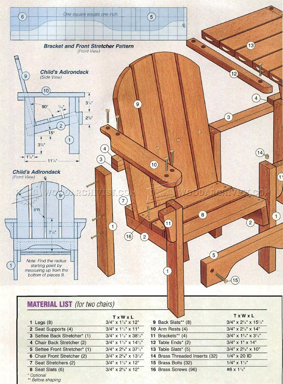 Childrens Adirondack Chair Plans