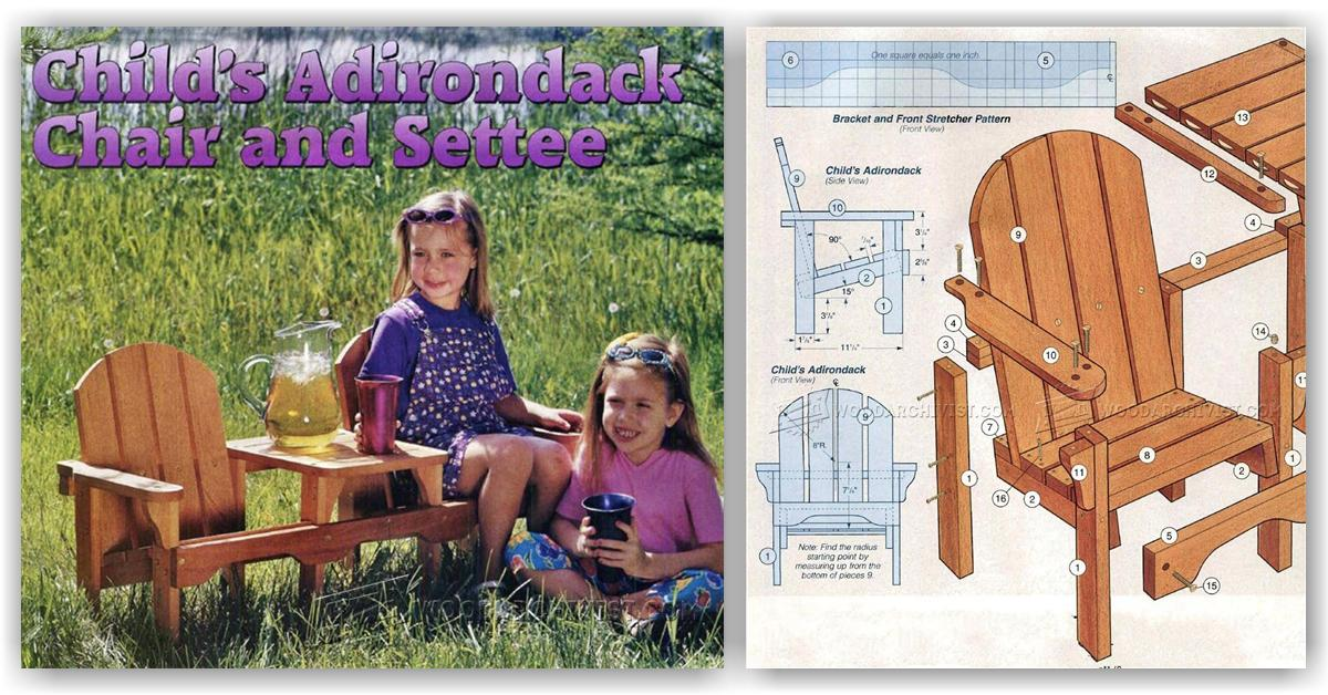Child 39 s adirondack chair chairs seating for Child chair design