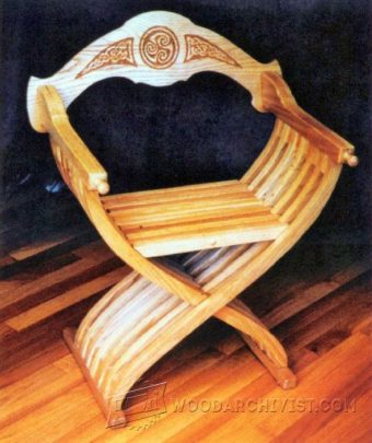 3840-Savonarola Chair Plans