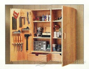 3841-Wall Tool Cabinet Plans
