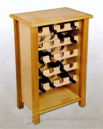 3843-Wine Rack Table Plans