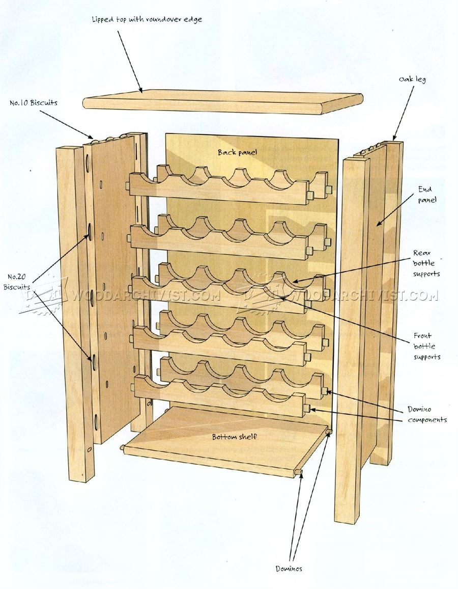 Wine rack table plans woodarchivist for Plan storage racks