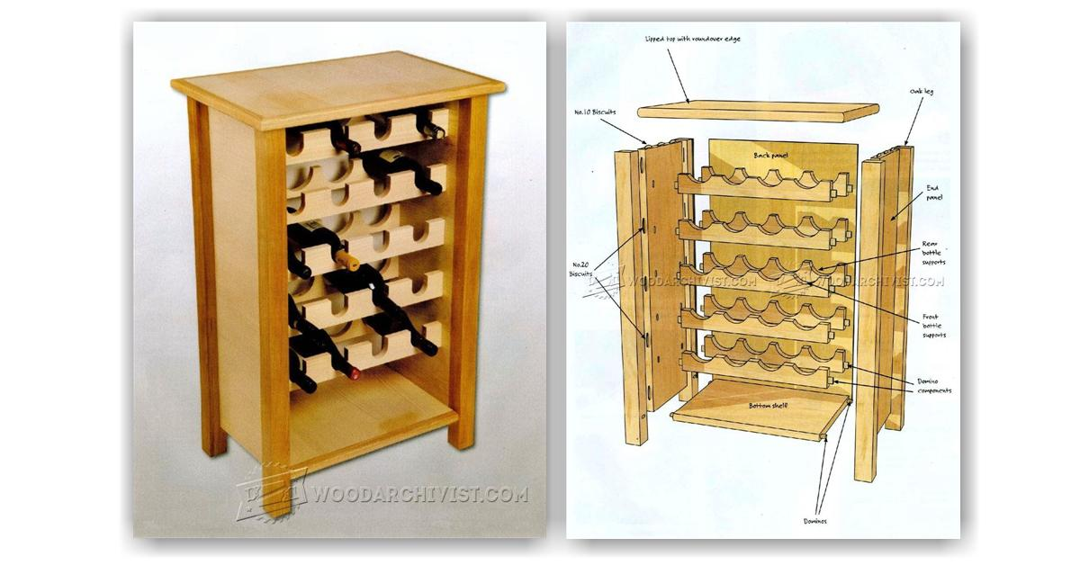 wine rack table plans woodarchivist