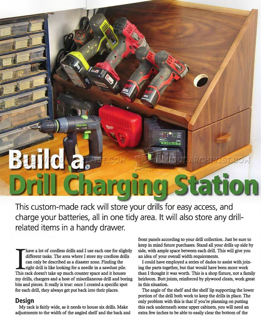 Cordless Drill Charging Station Plans