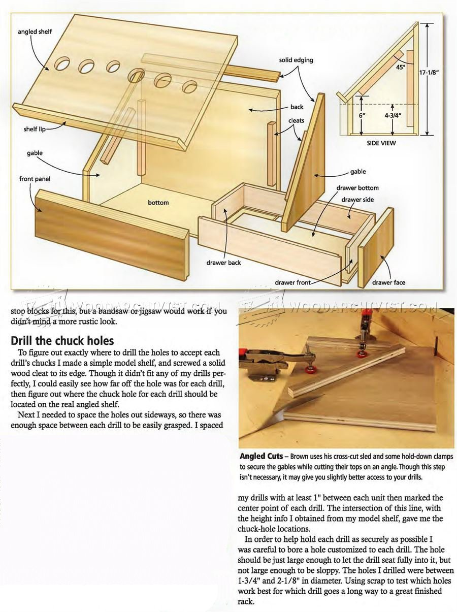 Cordless Drill Charging Station Plans • WoodArchivist