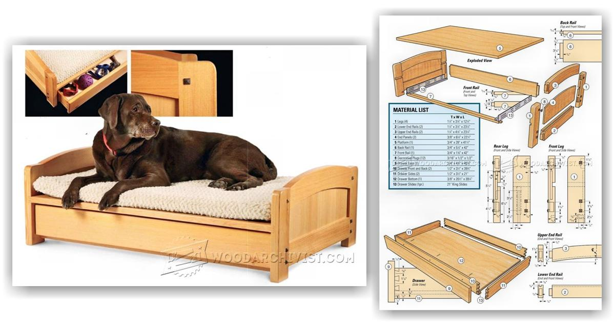 Dog Bed Plans • WoodArchivist