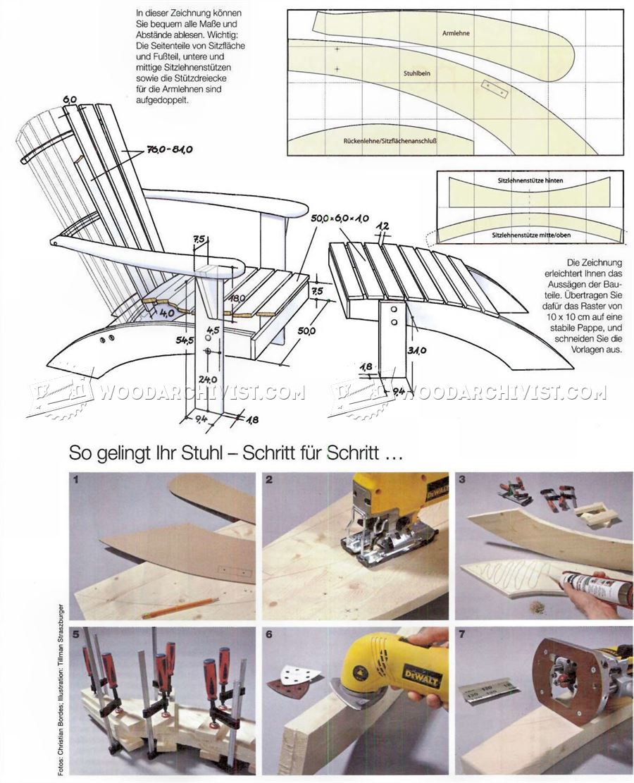 Adirondack Chair And Footrest Plans Woodarchivist