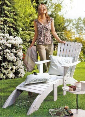 3847-Adirondack Table and Footrest Plans