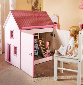 3849-Wooden Doll House Plans