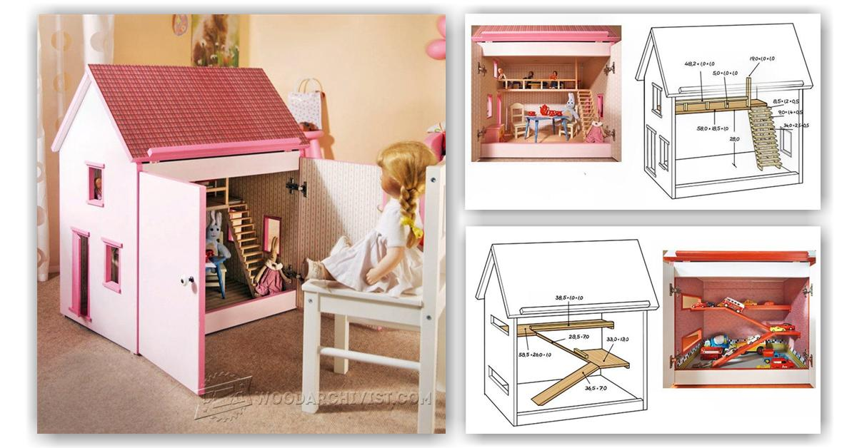 Wooden Doll House Plans 28 Images Free Dollhouse Plans