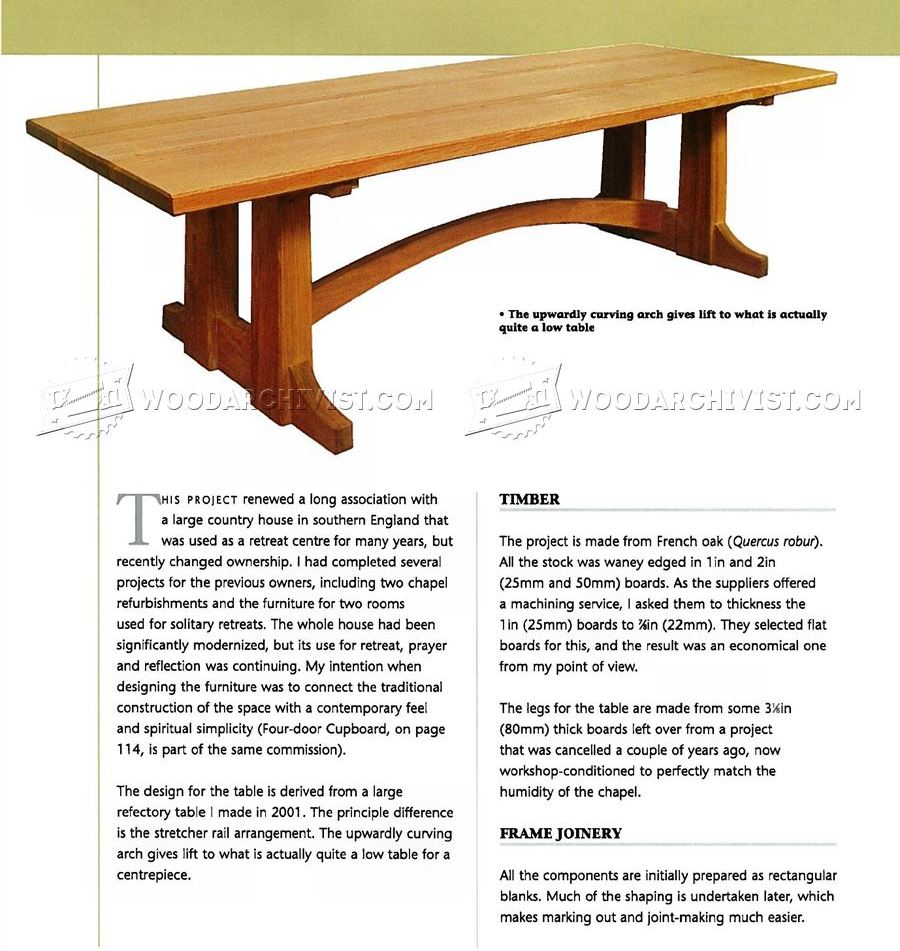 Large Occasional Table Plans