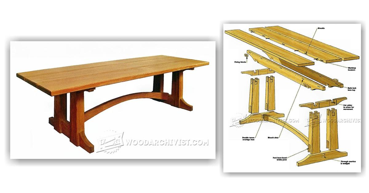large occasional table plans woodarchivist