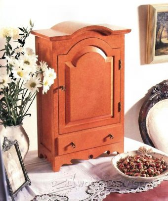 3952-Table Top Jewelry Armoire Plans