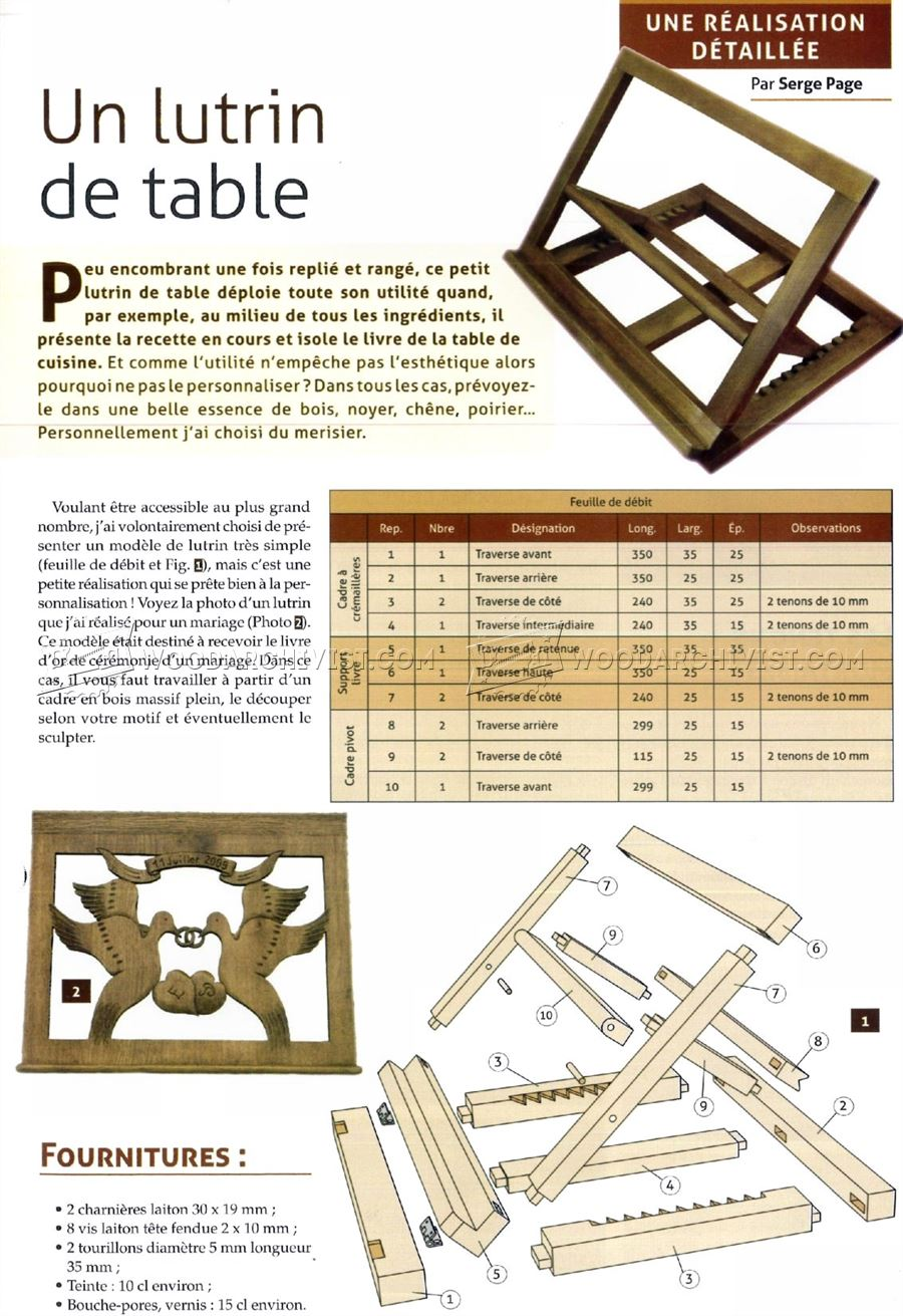 Folding Book Stand Plans