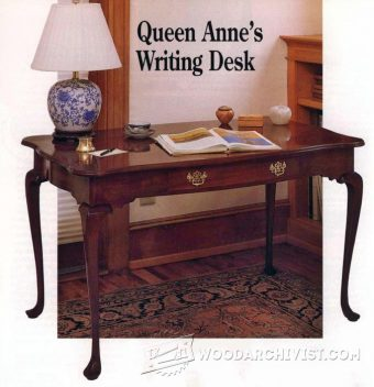 3863-Queen Anne Writing Desk Plans