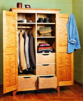 3868-Bedroom Wardrobe Plans