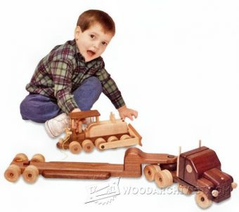 3878-Wooden Toy Trailer Truck Plans