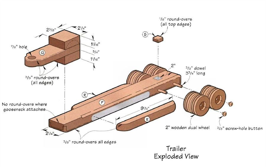 Wooden Toy Trailer Truck Plans