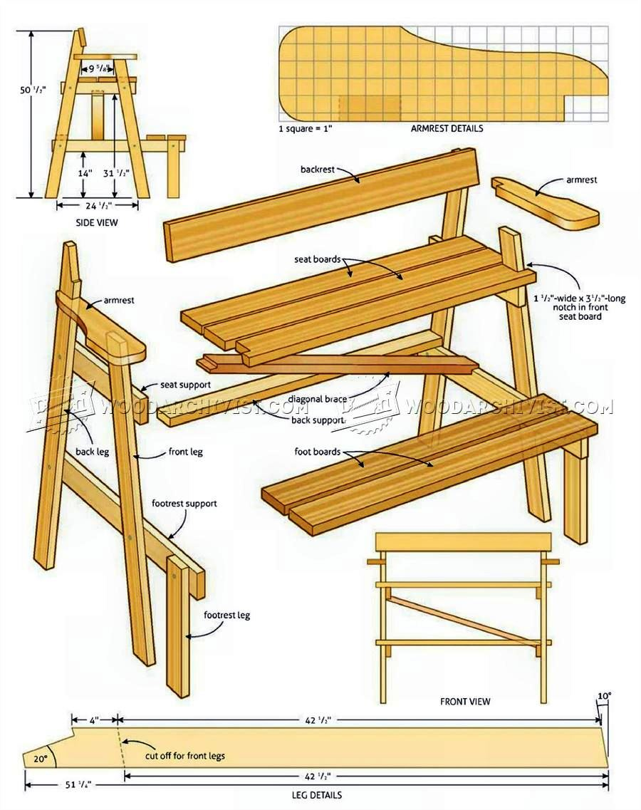 Sunset Bench Plans